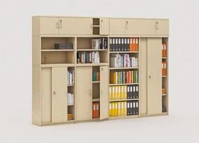 Zostava kancelárskeho nábytku MIRELLI A+, typ D, breza