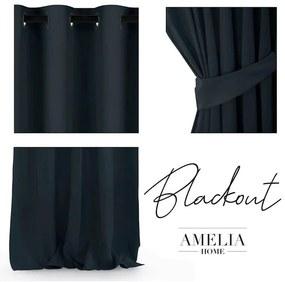 Záves BLACKOUT AMELIA čierny 140 x 245 cm 1 ks