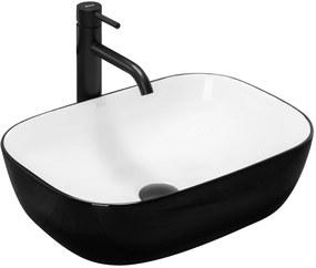 Umyvadlo na desku REA BELINDA černobílé