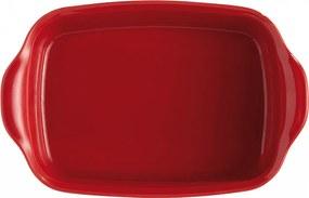 Emile Henry Individuálna zapekacia misa 22 x 14 cm červená Burgundy