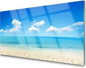 Sklenený obklad Do kuchyne More Modré Nebo