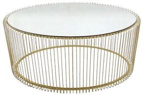 KARE DESIGN Konferenčný stolík Wire Uno 60×90 cm mosadz