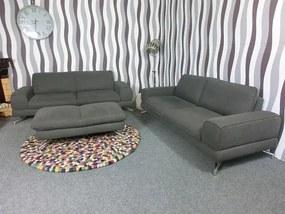 (2116) BONIKA 3+3+taburet moderná sivá zostava