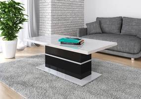 Stolík do obývačky 130x70 cm Nygma - čierno-biely