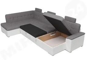 Luxusní sedací souprava do U Paramo, hnědá Roh: Orientace rohu Pravý roh