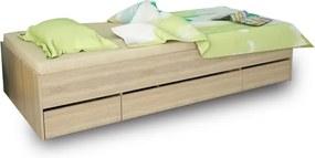 TEMPO KONDELA Matiasi 90 jednolôžková posteľ s úložným priestorom buk