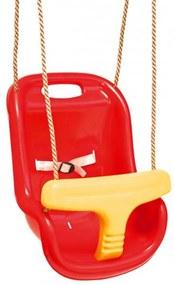 404204 Swing King Hojdačka pre deti 2521050, červeno-žltá