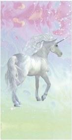 Plážová osuška s potlačou Good Morning Unicorn, 75 x 150 cm
