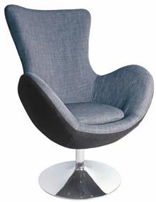 Halmar Relaxační křeslo Farfalla šedé