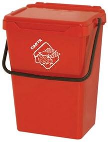Plastový odpadkový kôš, červený, 35 l