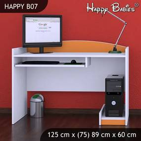 Písací stôl Happy Orange B07