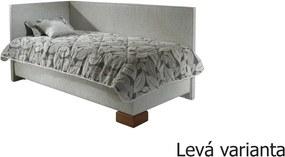 NEW DESIGN QUATRO varianta ľavá 80x200 cm s matracom CONTINENTAL ND 4 (Prístup od nôh)