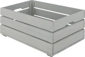 Drevená debnička SD-3-60x40 farebné varianty Povrchová úprava: Sivá