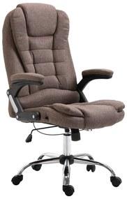 vidaXL Kancelárske kreslo, hnedé, polyester
