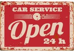 Ceduľa Car Service Open 24h