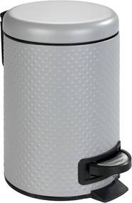 Sivý kúpeľňový odpadkový kôš z ocele Wenko Punto, 3 l