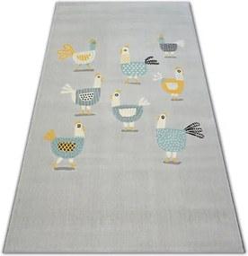 MAXMAX Detský kusový koberec Kuriatko - svetlo šedý šedá