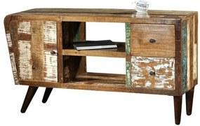 Masiv24 - RETRO TV stolík 145x62 cm, staré drevo