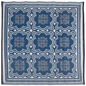Esschert Design Vonkajší koberec modro-biely 151,5 cm OC23