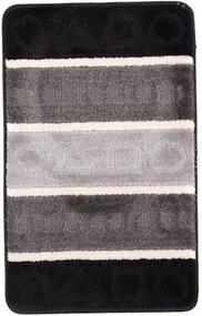 Kúpeľňová predložka 5015 sivo čierna, Velikosti 50x80cm