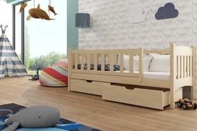 Gucio detská posteľ 190x90 rôzne farby - Borovica,