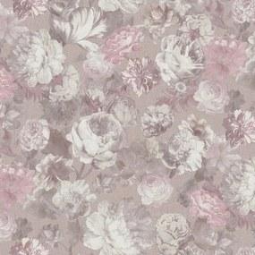 Vliesové tapety na stenu 02513-70, rozměr 10,05 m x 0,53 m, kvety veľké ružové, Erismann