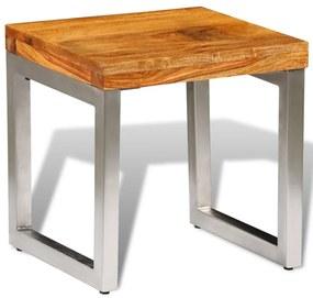 vidaXL Konferenčný stolík z dreveného masívu sheesham