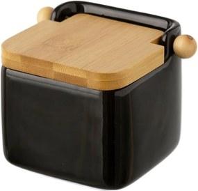 Čierna keramická soľnička Unimasa Modern, 750 ml