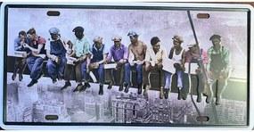 Ceduľa značka robotníci na lešení