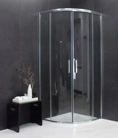 MAXMAX Sprchovací kút MAXMAX MEXEN RIO transparent - štvrťkruh 90x90 cm