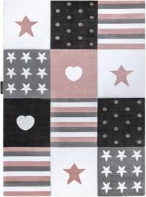 Detský kusový koberec Srdce ružový, Velikosti 180x270cm