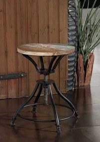 Bighome - INDUSTRY Taburetka drevená 40x40 cm, staré drevo