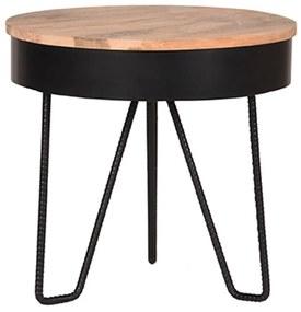 LABEL51 Rohový stolík Saran 44x44x43 cm drevo/čierny