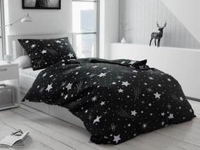 Bavlnené obliečky Nočná obloha čierna