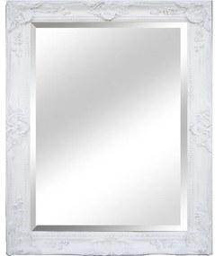 KONDELA Malkia Typ 9 zrkadlo na stenu biela