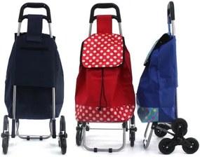 Pronett XJ3657 Nákupná taška na kolieskach do schodov 42 L color