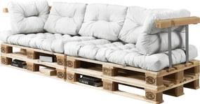 [en.casa]® Paletový nábytok  - kompletná sada - biela - model D