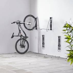 Nástenný stojan na bicykle Leonardo, skladací, galvanizovaný