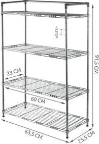 ISO Kovový botník na 12 párov, 5345