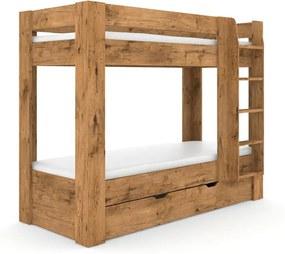 DREVONA09 Pochodová posteľ dub lancelot REA PIKACHU, pravá