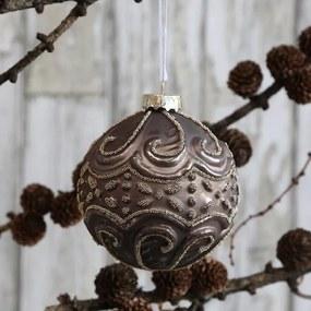 Chic Antique Vianočná ozdoba Antique Mocca Pearls