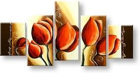 Ručne maľovaný obraz na stenu KVETY FB249E5