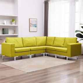 vidaXL 5-dielna sedacia súprava žltá látková