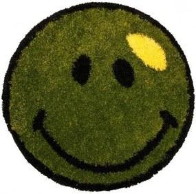 Kusový koberec Shaggy vlas 30mm Smile zelený, Velikosti 100x100cm