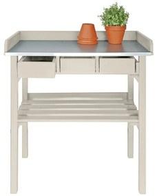Esschert Design Záhradný pracovný stôl  biely CF29W