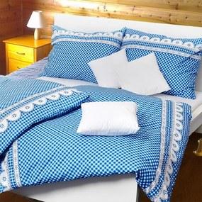 Stanex Luxusné obliečky 100% Bavlna babičkine údolie modré 140x200/70x90 cm
