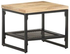 vidaXL Príručný stolík 40x40x35 cm, mangový masív