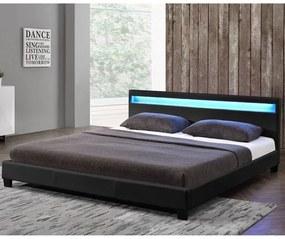 InternetovaZahrada - Paris čalúnená posteľ 180 x 200 cm - čierna