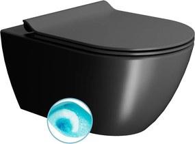 Pura 881526 WC závesné 55x36 cm, Swirlflush, čierna mat