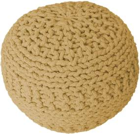KUDOS Textiles Pvt. Ltd. MEGA AKCE: Sedací vak TEA POUF 34 žlutý - 40x40x35 cm